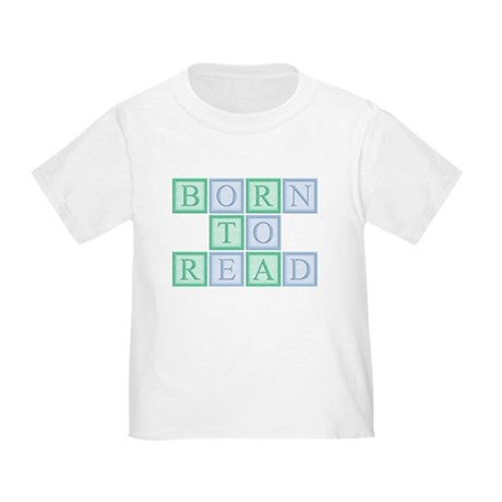 Born to Read Green Toddler T-Shirt