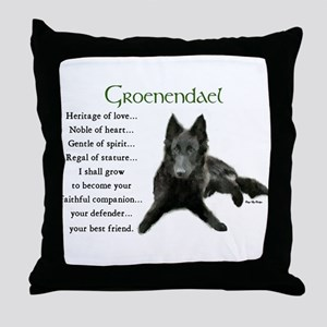 Groenendael Belgian Sheepdog Throw Pillow