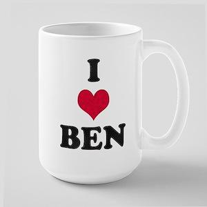 I Love Ben Large Mug