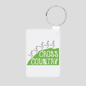 Cross Country Runners Aluminum Photo Keychain