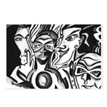 Black and White Comic Relief Postcards (Package of