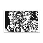 Black and White Comic Relief 20x12 Wall Decal