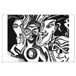 Black and White Comic Relief Large Poster