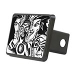 Black and White Comic Relief Rectangular Hitch Cov