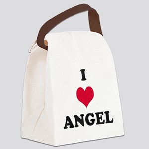 I Love Angel Canvas Lunch Bag