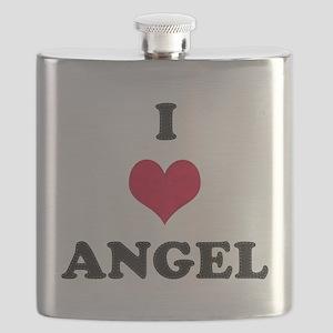 I Love Angel Flask