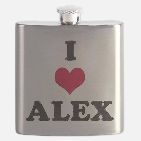 I Love Alex Flask