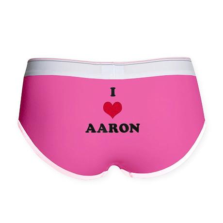 I Love Aaron Women's Boy Brief