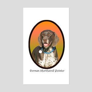 German Shorthaired Pointer Rectangle Sticker