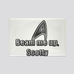 Beam me up, Scotty Rectangle Magnet