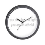 Red Lights Atheist Wall Clock