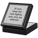 Red Lights Atheist Keepsake Box