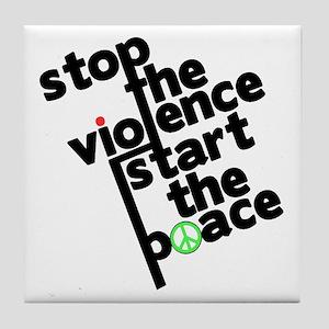 Stop Violence Bring Peace Tile Coaster