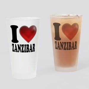 I Heart Zanzibar Drinking Glass