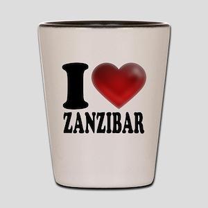 I Heart Zanzibar Shot Glass