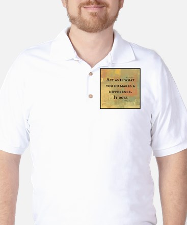 You Make a Difference Golf Shirt