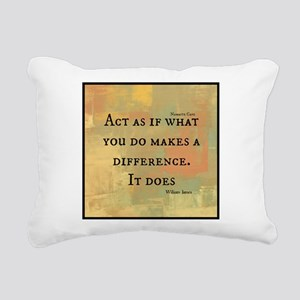 You Make a Difference Rectangular Canvas Pillow