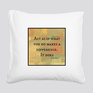 You Make a Difference Square Canvas Pillow