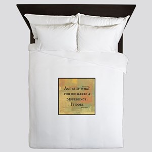 You Make a Difference Queen Duvet