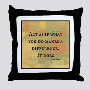 You Make a Difference Throw Pillow