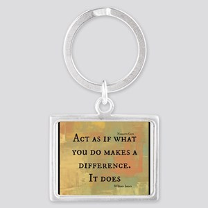 You Make a Difference Landscape Keychain