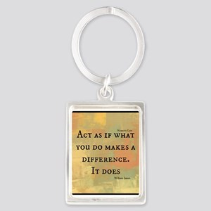 You Make a Difference Portrait Keychain