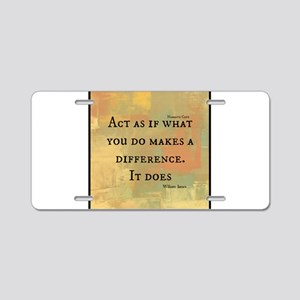 You Make a Difference Aluminum License Plate