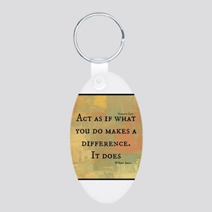 You Make a Difference Aluminum Oval Keychain