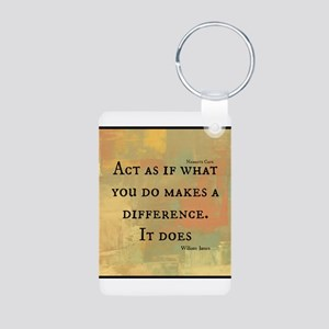 You Make a Difference Aluminum Photo Keychain