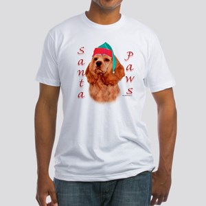 Cocker(red) Paws Fitted T-Shirt