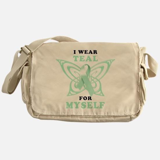 I Wear Teal for Myself.png Messenger Bag