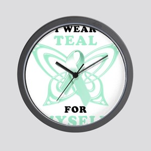 I Wear Teal for Myself Wall Clock