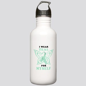 I Wear Teal for Myself Stainless Water Bottle