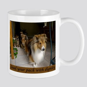 Lead your pack with dignity Mug