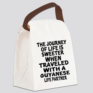 Traveled With Guyanaese Life Part Canvas Lunch Bag