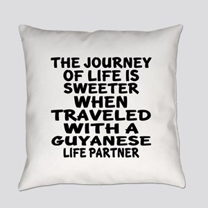 Traveled With Guyanaese Life Partn Everyday Pillow