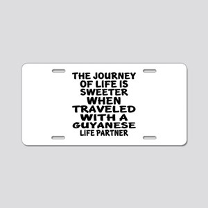 Traveled With Guyanaese Lif Aluminum License Plate