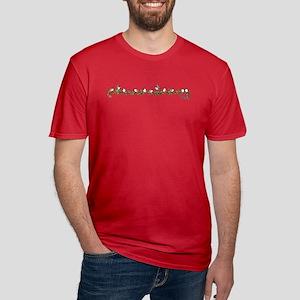 little band of chickadees Men's Fitted T-Shirt (da