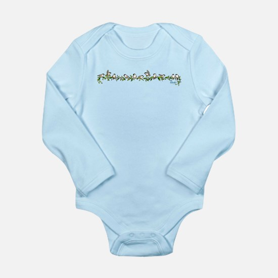 little band of chickadees Long Sleeve Infant Bodys