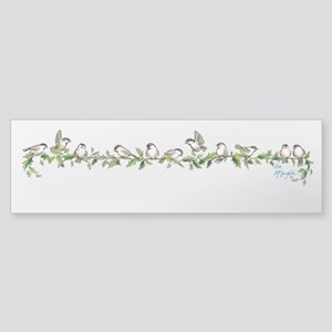 little band of chickadees Sticker (Bumper)