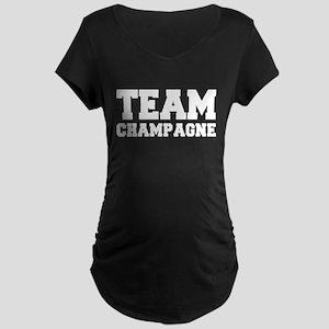 TEAM CHAMPAGNE Maternity Dark T-Shirt