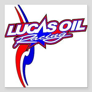 "Lucas Oil Racing Square Car Magnet 3"" x 3"""