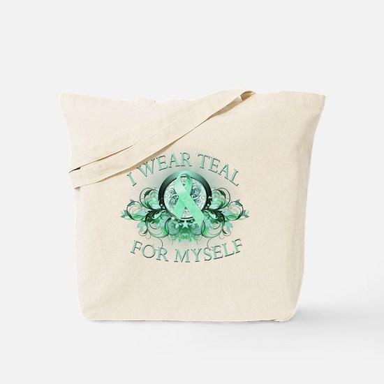 I Wear Teal for Myself Tote Bag