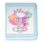 Miluo China Map baby blanket