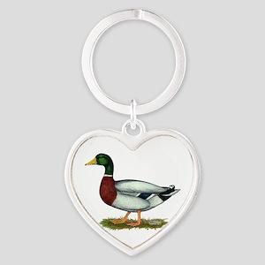 Mallard Duck Drake Heart Keychain