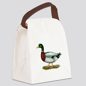 Mallard Duck Drake Canvas Lunch Bag
