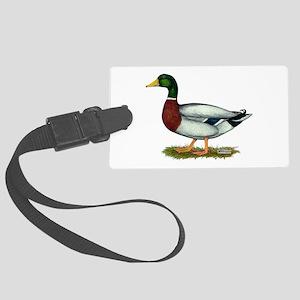 Mallard Duck Drake Large Luggage Tag