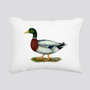 Mallard Duck Drake Rectangular Canvas Pillow