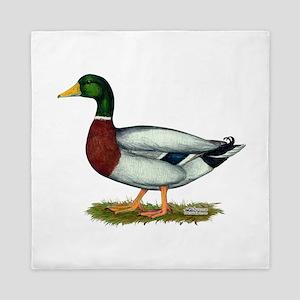 Mallard Duck Drake Queen Duvet