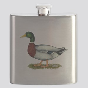 Mallard Duck Drake Flask